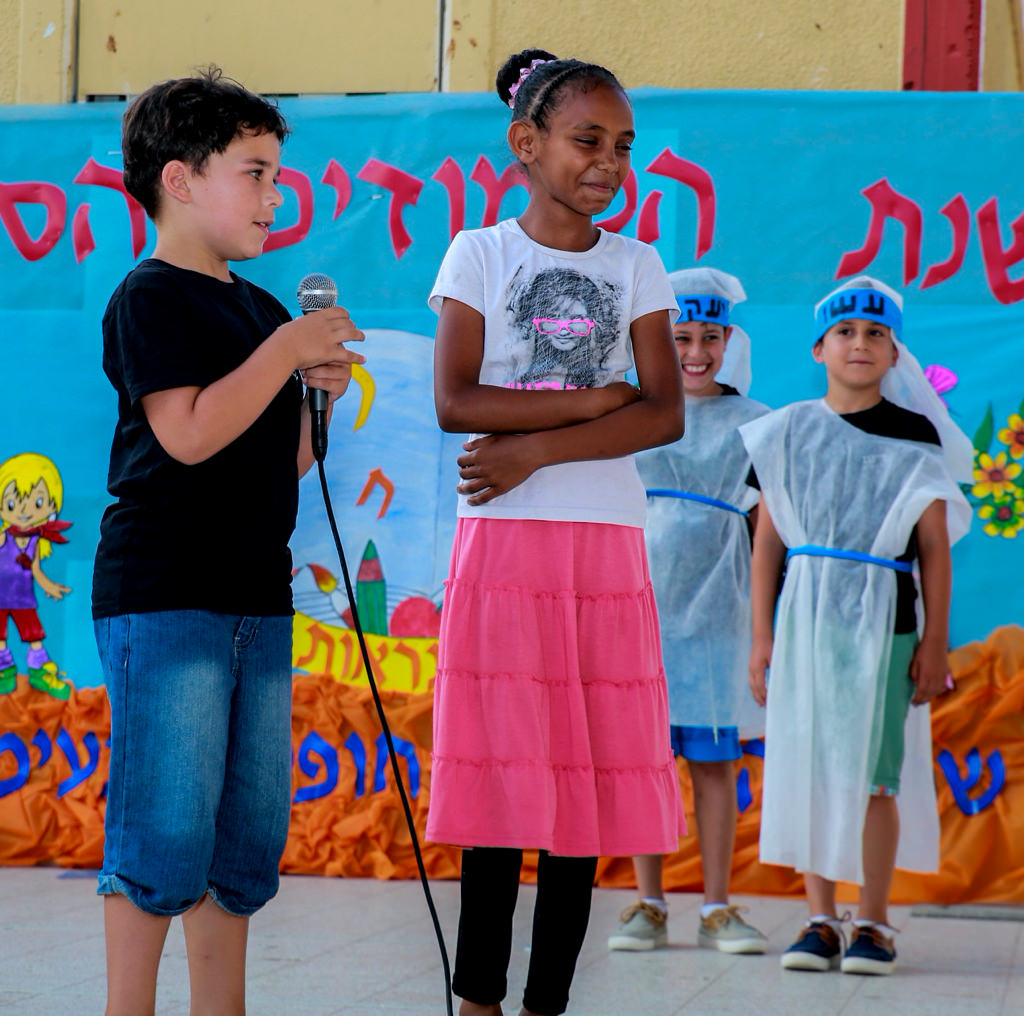 Children giving a presentation